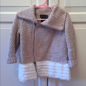 Other - Toddler zip up sweater with faux fur.